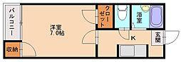 ドリームパレス井尻九番館[1階]の間取り