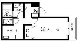 サニーハイツ山坂[2階]の間取り