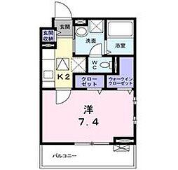 高松東1丁目アパート[1階]の間取り
