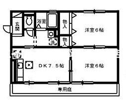 岡山県岡山市北区青江5丁目の賃貸アパートの間取り