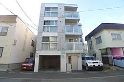 北海道札幌市豊平区平岸三条4の賃貸マンションの外観