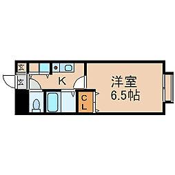 愛知県名古屋市中川区尾頭橋2丁目の賃貸マンションの間取り