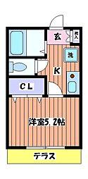レジデンス中神[1階]の間取り