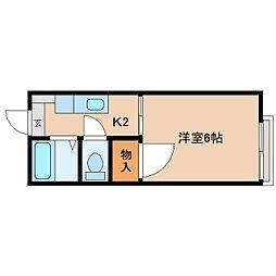 静岡県静岡市清水区川原町の賃貸アパートの間取り