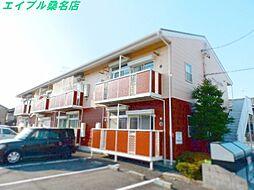 三重県桑名市柳原の賃貸アパートの外観