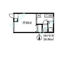 026703 TIハウス[101号室]の間取り