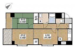 昭島コートエレガンスC[4階]の間取り