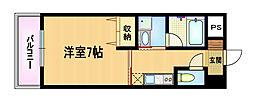 大阪府大阪市都島区都島南通2丁目の賃貸マンションの間取り