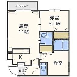 PLAZA N19E[3階]の間取り