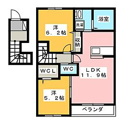 MAISON 花水木[2階]の間取り