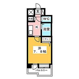 コンフォートスペース箱崎[2階]の間取り