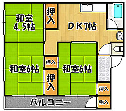 第5田口コーポ[102号室]の間取り