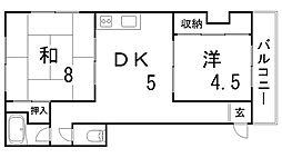 植原マンション[2階]の間取り