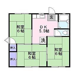 福岡県大野城市下大利2丁目の賃貸アパートの間取り