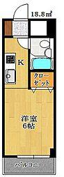 オネスティ船橋5番館[3階]の間取り