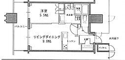 都営大江戸線 春日駅 徒歩1分の賃貸マンション 25階1LDKの間取り