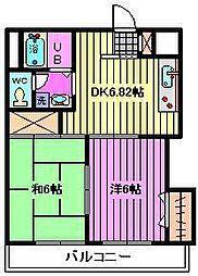 インフォートマンション[202号室]の間取り