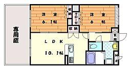 シャインコート秋桜[1階]の間取り