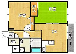 冨尾マンションIII[2階]の間取り