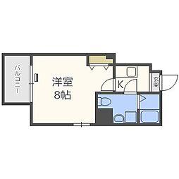 ドゥエリング桜川[6階]の間取り