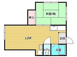 兵庫県神戸市垂水区千代が丘1丁目の賃貸アパートの間取り