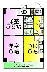ボンシェール堺[11階]の間取り