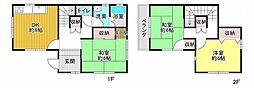JR播但線 福崎駅 徒歩19分 3DKの間取り