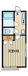 ピアシャトル[1階]の間取り