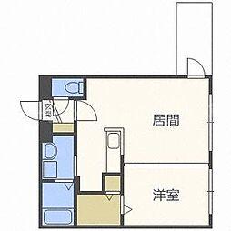 モルティーニ東札幌[2階]の間取り