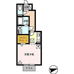 村雲アパートメント(ムラクモアパートメント)[1階]の間取り