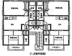 第3パープルハウス[1階]の間取り
