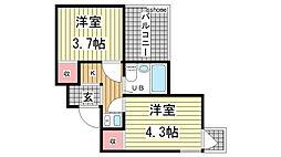 アメニティ東神戸[3階]の間取り