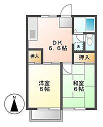 タウン松葉[2階]の間取り