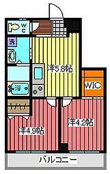 埼玉県川口市東領家4丁目の賃貸マンションの間取り
