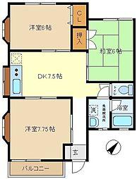 ハイム須賀3  201[2階]の間取り