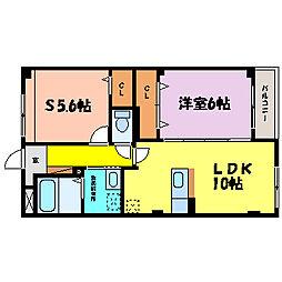 滋賀県大津市見世1丁目の賃貸マンションの間取り