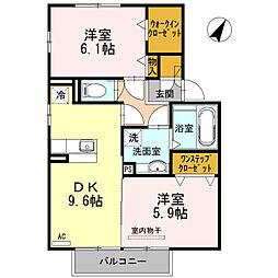クレールSAKURA[2階]の間取り
