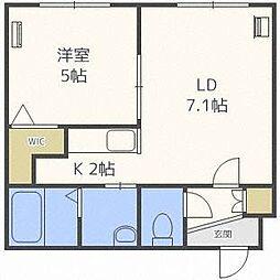 ローヤルハイツ栄通1丁目B棟[4階]の間取り