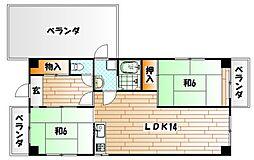 菊ヶ丘ハイツ[5階]の間取り