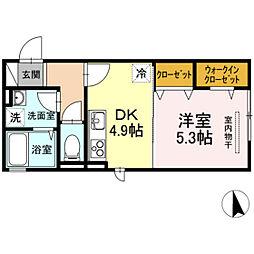 D-room Luxury 2nd[2階]の間取り