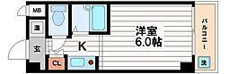 ドミール堺筋本町[3階]の間取り