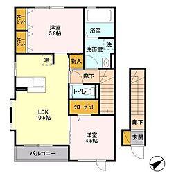 Persimmon Terrace(パーシモンテラス)[2階]の間取り