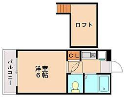 インターレジデンスA[2階]の間取り