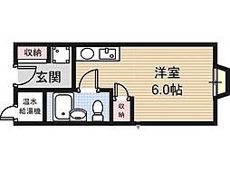 アリタマンション長瀬[2階]の間取り
