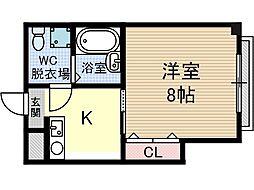 第9薩摩マンション[4階]の間取り