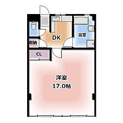 西春オカマンション[402号室]の間取り