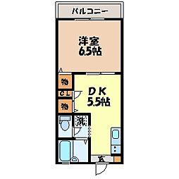 カーサ久山[2階]の間取り