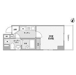 神奈川県相模原市南区相模大野7の賃貸マンションの間取り