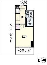 レジディア栄[4階]の間取り