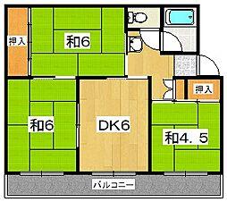 男山第三住宅207棟[5階]の間取り